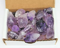 1/2 lb   Bulk Amethyst Points Crystal Collection Natural Spe