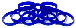 TheAwristocrat 1 Dozen Multi-Pack Blue Wristbands Bracelets