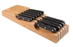 Bellemain 100% Pure Bamboo in Drawer Knife Block, Knife Orga