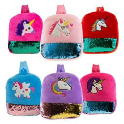 12 Inch Plush Unicorn Kids Backpack in 6 Assorted Colors - B