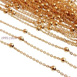 "16""-24"" Womens Wholesale in Bulk Gold Stainless Steel Rolo C"