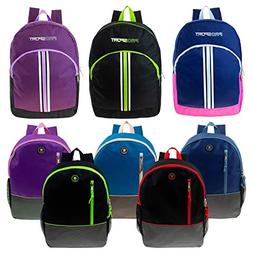 "16"" and 17"" Wholesale Kids Sport Backpacks in 8 Styles - Bul"