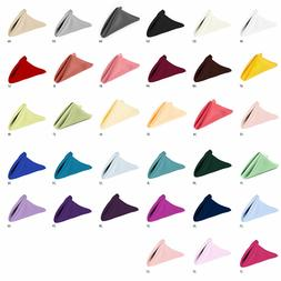 12/60/120 Pcs 17 & 20 in. Square Polyester Dinner Napkin Wed