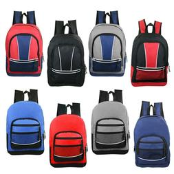 "17""  Kids Sport Bulk Backpacks in 8 Assorted Styles - Case o"