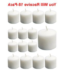 18 pack votive candles unscented white 1