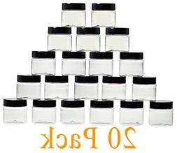 1oz Cosmetic Jars with Lids 30G / 30ml - Bulk, 1 Ounce Clear