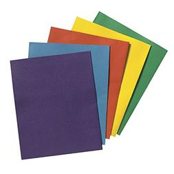 School Smart 2 Pocket Folder - 9 x 12 inch - Pack of 25 - As