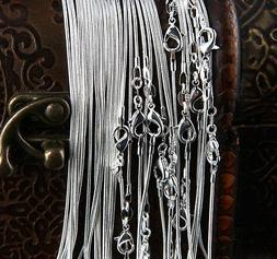 20'' in. Bulk 100pcs wholesale 1.2mm Sterling Silver plated