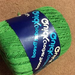 20 roll lot of Size 3 Green QuickThread Crochet Thread