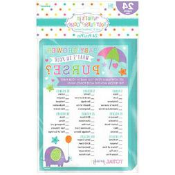 24 Baby Shower What's In Your Purse Game Activity Game Party
