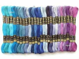 25 Anchor Cross Stitch Embroidery Cotton Thread Floss/ skein