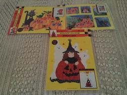 3 Plaid Iron-On Transfers Sampler, Kitty in Pumpkin Patch, W
