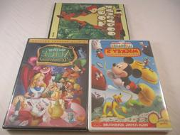 3 NEW Kids DVDs, Disney's Alice In Wonderland/Mickey's ..Clu