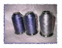 3 Spools BONDED POLYESTER UVR Heavy duty outdoor THREAD in P