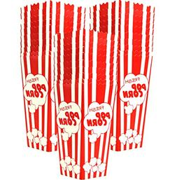"""30 Popcorn Boxes, 7.75"""" Inches Tall and Holds 46 Oz. with Ol"""