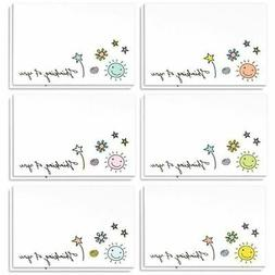 36 Assorted Pack Thinking of You Note Cards - Bulk Box Set -
