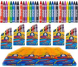 4E's Novelty 384 Crayons! 48 Packs of 8 Crayons for Kids Bul