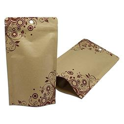 50 Pcs 12x20cm  Inner Aluminum Foil Airtight Kraft Paper Bag
