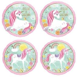 "4x Magical ""BELIEVE"" in Unicorn Sparkle 18"" Mylar Foil Ballo"