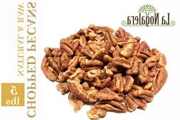 5 LBS CHOPPED  Raw Natural Pecan Nut Chopped in Bulk and Vac