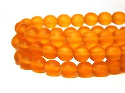 50 6mm Dark Yellow Matte Round Beads Medium Topaz Czech T-9C