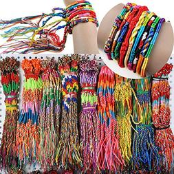 50pcs Wholesae BULK Jewelry lots Colorful Braid Friendship C
