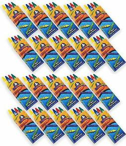 4E's Novelty 576 Crayons! 144 Packs of 4 Crayons for Kids Bu