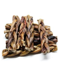 """6"""" Inch BRAIDED BULLY STICKS odor free PROCESSED & PACKAGED"""