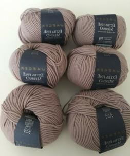 6 Skeins Jaeger Extra Fine Merino Double Knitting Yarn in #9