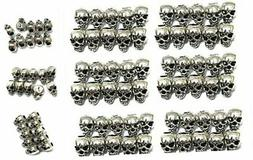 60 PCS 4mm Macroporous Skull Spacer Beads for Jewelry Making