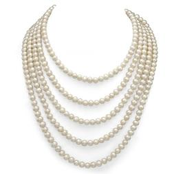 7-7.5mm White Freshwater Cultured High Luster Pearl Endless
