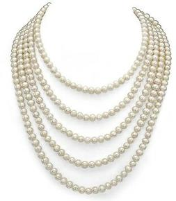 8-8.5mm White Freshwater Cultured High Luster Pearl Endless