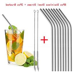 LtrottedJ 8 Long Stainless Steel Drinking Straws Fits 20 Oz