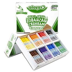 Crayola Broad Line Washable Markers, Classpack Bulk Markers,