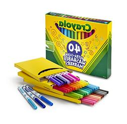 Crayola 40Count Ultra-Clean Fine Line Markers; Washable, Fin