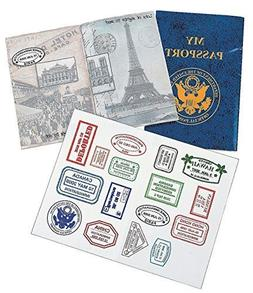 Fun Express PASSPORT STICKER BOOK  - BULK