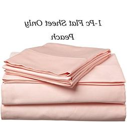 HS Linen Flat Sheet Genuine HOTEL QUALITY 100% Egyptian Cott