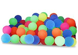Juvale Bouncy Balls Party Favors - 100-Count Super Bouncy Ba