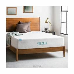 LUCID 12 Inch Gel Infused Memory Foam Mattress - Medium Feel