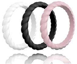 Made for Her Stackable Silicone Wedding Ring for Gym Sports
