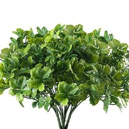 Nahuaa Artificial Plants Outdoor, 4PCS Fake Greenery Shrubs