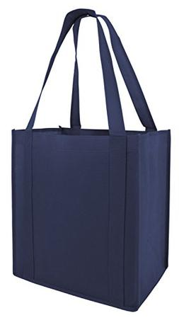PACK of 50 - Non-Woven Convention Reusable Tote Bags with St