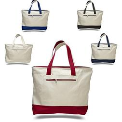 Pack of 12 - Heavy Duty Canvas Tote Bags BULK Bags Reusable