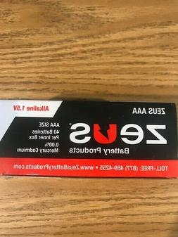AAA Batteries 1.5V Zeus Brand New Product Sold in boxes of 4