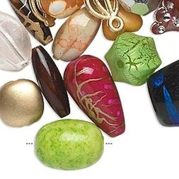 1/2 Pound Acrylic Beads for Jewelry Making, Supply for DIY B