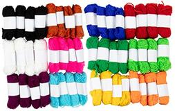 Acrylic Yarn - 48-Skein Colorful Yarns for Knitting and Croc