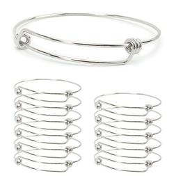 Wholesale 12 PCS Adjustable Expandable Wire Blank Stainless