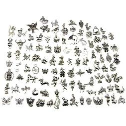 Animal Charms, Buytra Wholesale Bulk 100 Pack Mixed Tibetan