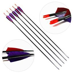 Letszhu Archery Carbon Arrows 340 Spine with Removable Tips