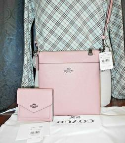 AUTH COACH MESSENGER CROSSBODY IN CROSSGRAIN LEATHER BAG & S